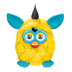furby plush yellowteal time dust furbish