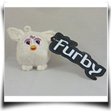 9CM White Furby Soft Plush Toy Keychain