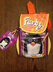 furby carry along backpack yellow orange