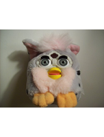 Furby Buddy With Gray Body And Black